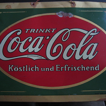 The first ever issued german tn sign from 1929 - Coca-Cola