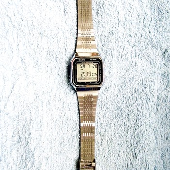 1986-casio tc 600 touch sensor watch/calculator. - Wristwatches