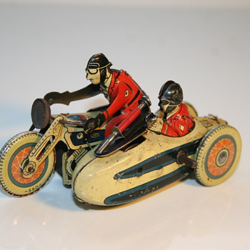 SFA Paris tin toy motorcycle