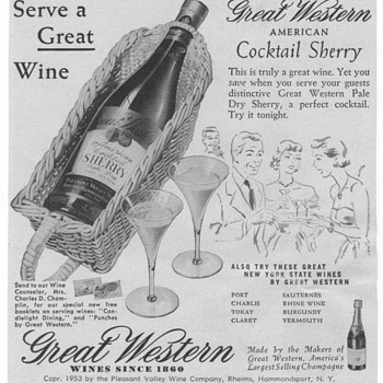 1953 Great Western Wine Advertisement - Advertising