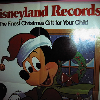 Vintage Mickey Mouse Christmas Ad Poster - Animals