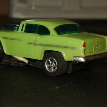 AFX LIME GREEN 55 CHEVY GASSER H.O. SCALE