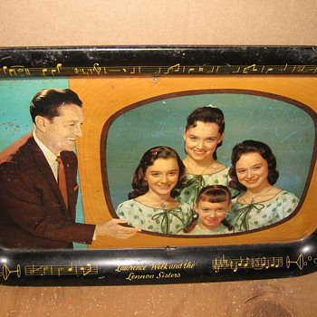 lawrence welk serving tray - Advertising