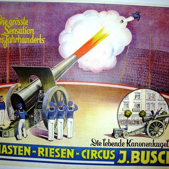 "Circus Posters featuring ""The Great Wilno"" - Human Cannonball"