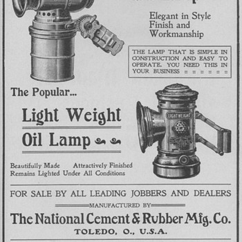 1902 Breckenridge Lamps Advertisement