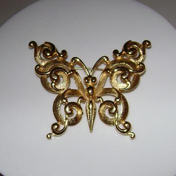 Crown Trifari Butterfly Brooch