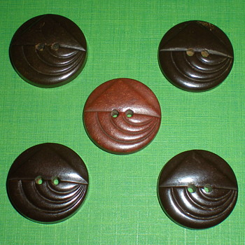 Art Deco Bakelite buttons set.