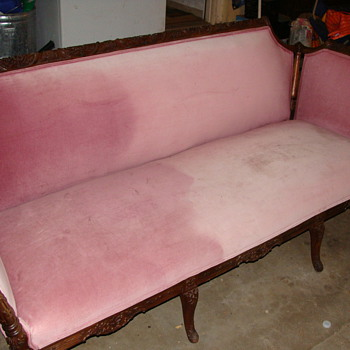 Old Sofa, Mahogany---What is it  - Furniture