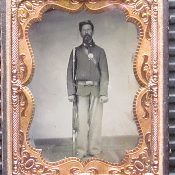 Tintype of Soldier in the 201st Pennsylvania regiment.