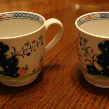 Hand painted cups - Asian