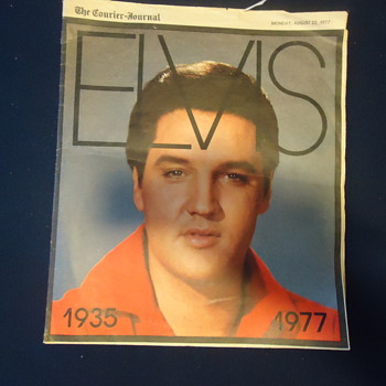 OLD NEWS PAPPER OF ELVIS PRESLY FROM 1935 TO 1977 - Paper