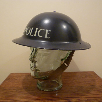British WWII Police steel helmet - Military and Wartime