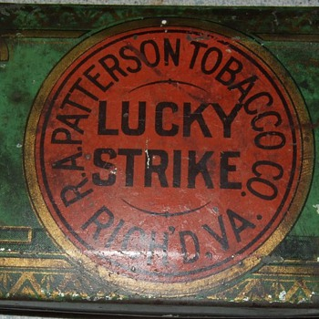 early 1900&#039;s Lucky Strike Cigarette tin.