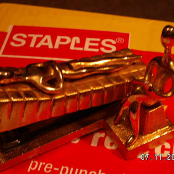 Vintage Sculpture/Stapler  ~marked Ted Arnold Ltd. - Art Deco