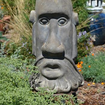 Monolithic Oooga-Booga Head - Garden Statue