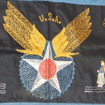 "WW2 souvenir embroidery from the ""Middle East"" c. 1943 - Military and Wartime"