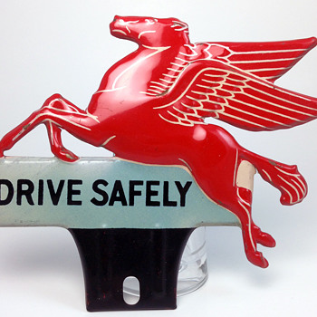 Pegasus - Drive Safely - License Plate Topper - Petroliana