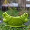 SOWERBY AESTHETIC GREEN DOUBLE SWAN VASE
