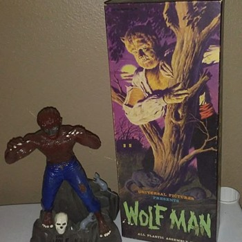Original 1960's Aurora Wolfman Model !
