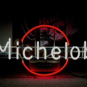 Michelob Ruby Red Circle - Signs