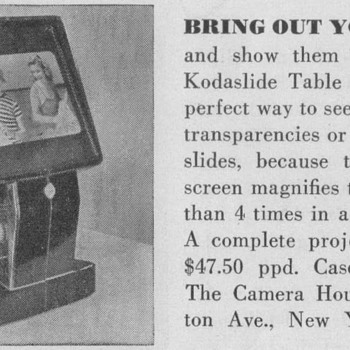 1950 Kodaslide Table Viewer Advertisement