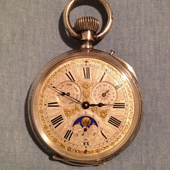 Big Pocket Watch with moon calendar - Pocket Watches