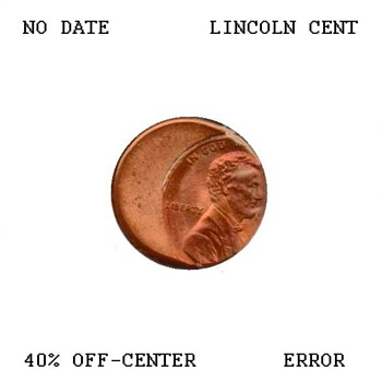 Lincoln Cent Off-Center Strike Error - US Coins