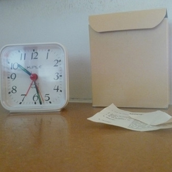 Vintage 70's French KIPLE alarm clock.