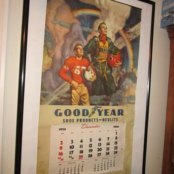 1956 Goodyear large calendar poster.
