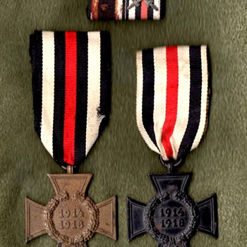 Honor Crosses for non-combatants and next of kin