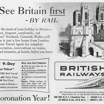 1953 - British Railways Advertisements - Advertising