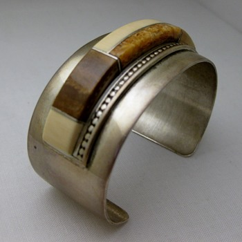 Navajo J. Woolsey inlay cuff from the 1960's