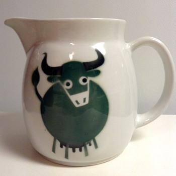 Kaj Franck Arabia Finland Green Cow Pitcher