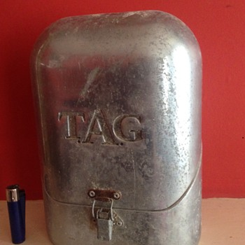 T.A.G  aluminium box vintage, what was is for ??