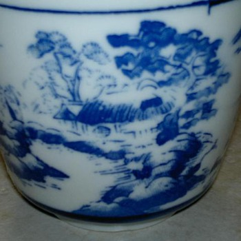 Blue & White Landscape Cup - China and Dinnerware