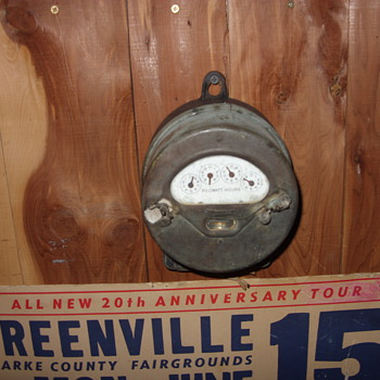 old electric meter