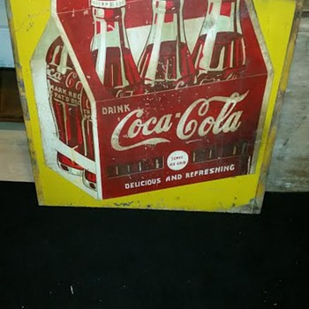Coca Cola 6 pack sign