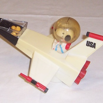 Snoopy & Woodstock Radio Rocket Ship