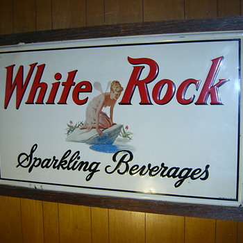 White rock Sparkling beverages sign  - Signs