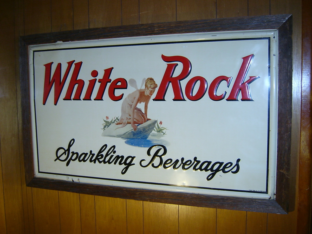 White rock sparkling beverages sign collectors weekly