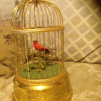 Original Swiss Reuge singing bird cage - Music Memorabilia