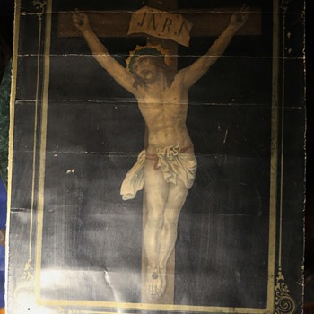Christ on the Cross with a Hidden Picture Behind it