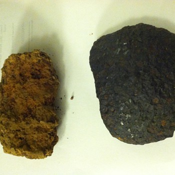 Civil War Artillery Fragments - I dug up. These were last touched by humans when they were fired during the Civil War.