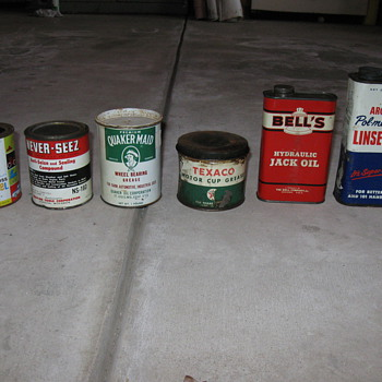 Old oil cans and more