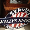 Willys-Knight Double Sided Sign