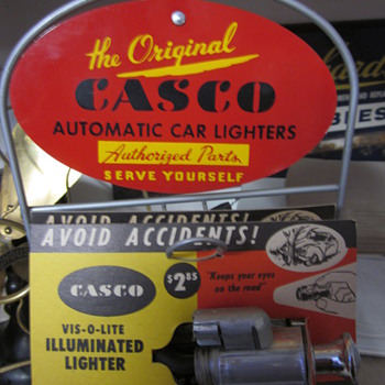 1960's  Casco Car Lighter Counter Top Display