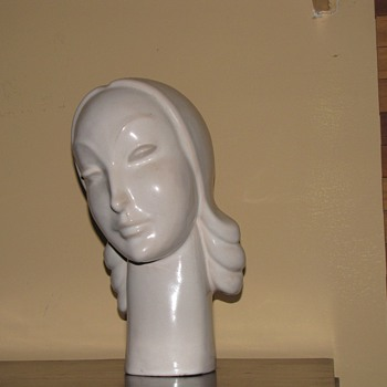 Rare Mountainside Art Pottery Art Deco Bust - Art Deco