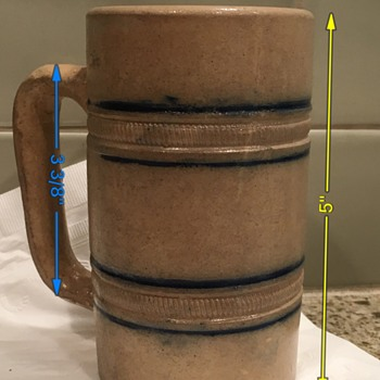 Antique salt glaze stoneware mug