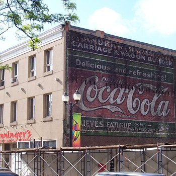 Canadian Painted Wall Sign - Coca-Cola
