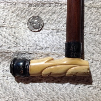 Sterling and ivory walking stick